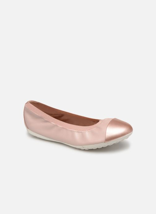 Ballet pumps Geox Jr Piuma Ballerine J92B0A Pink detailed view/ Pair view