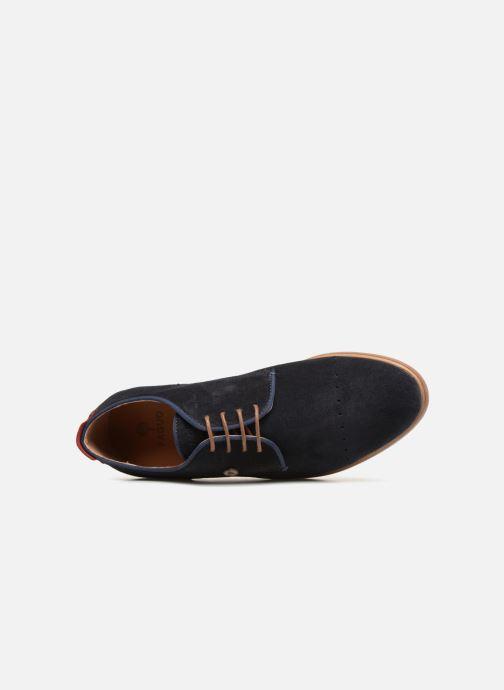 Zapatos con cordones Faguo Rosh Azul vista lateral izquierda