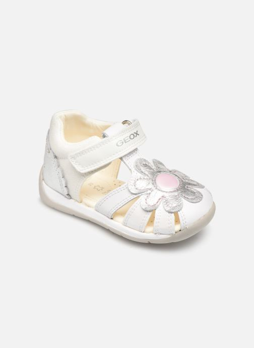 Sandals Geox B Each Girl B920AA White detailed view/ Pair view