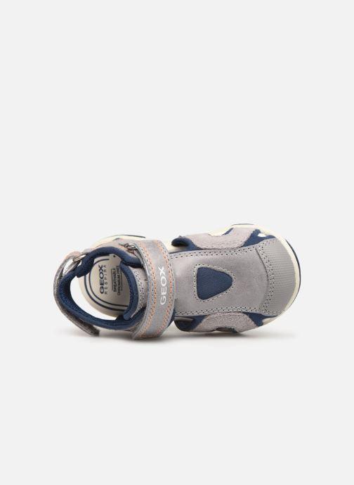 Sandales et nu-pieds Geox B Sandal Agasim Boy B921AC Gris vue gauche