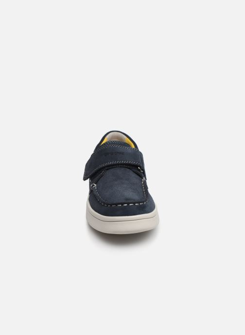 Schoenen met klitteband Geox J Djrock Boy J925VC Blauw model