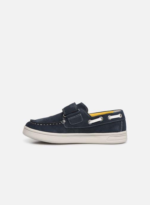 Chaussures à scratch Geox J Djrock Boy J925VC Bleu vue face