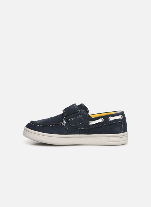 Schoenen met klitteband Geox J Djrock Boy J925VC Blauw voorkant