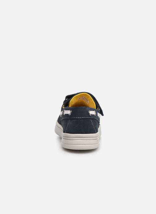 Schoenen met klitteband Geox J Djrock Boy J925VC Blauw rechts