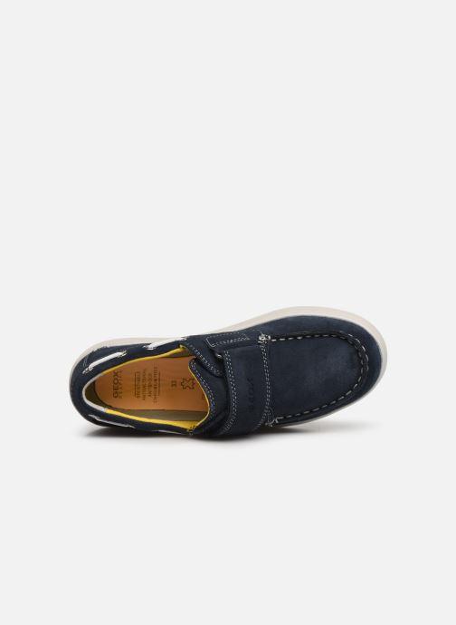 Schoenen met klitteband Geox J Djrock Boy J925VC Blauw links