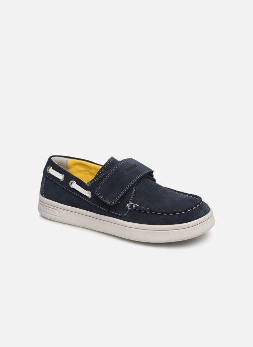 Schoenen met klitteband Geox J Djrock Boy J925VC Blauw detail