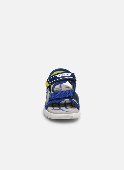 Sandalen Geox J Sandal Flexyper Bo J929DC blau schuhe getragen