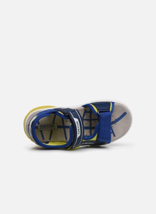 Sandals Geox J Sandal Flexyper Bo J929DC Blue view from the left