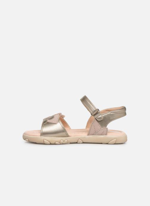 Sandales et nu-pieds Geox J Sandal Haiti Girl J928ZA Argent vue face