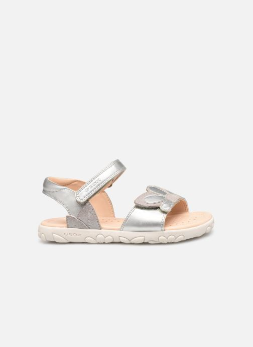 Sandales et nu-pieds Geox J Sandal Haiti Girl J928ZA Argent vue derrière