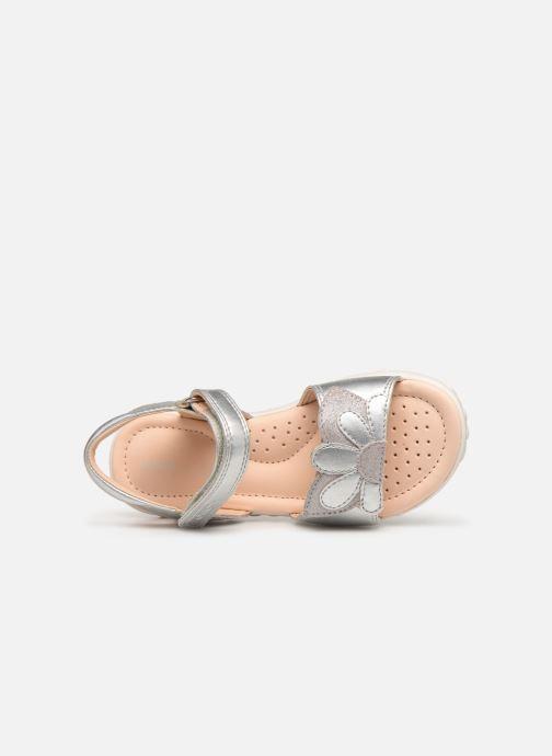 Sandales et nu-pieds Geox J Sandal Haiti Girl J928ZA Argent vue gauche