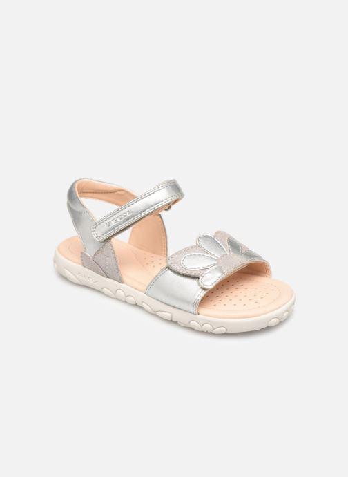 Sandales et nu-pieds Geox J Sandal Haiti Girl J928ZA Argent vue détail/paire