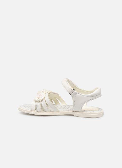 Sandales et nu-pieds Geox J Sandal Karly Girl J9235D0 Blanc vue face