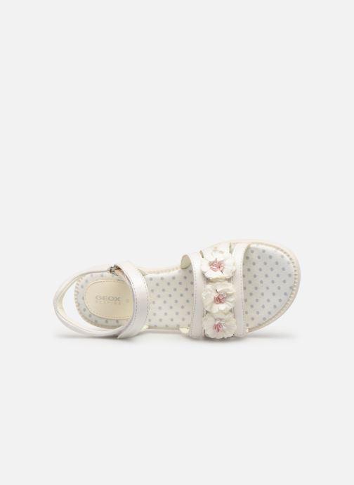 Sandales et nu-pieds Geox J Sandal Karly Girl J9235D0 Blanc vue gauche