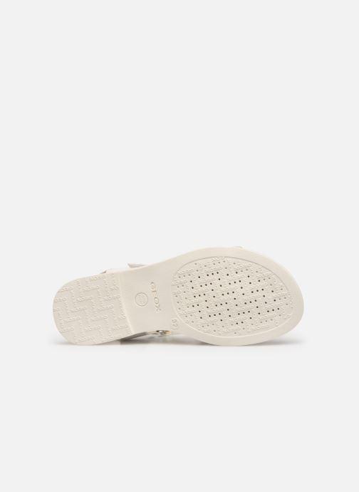 Sandales et nu-pieds Geox J Sandal Karly Girl J9235D0 Blanc vue haut