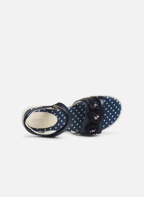 Sandales et nu-pieds Geox J Sandal Karly Girl J9235D0 Bleu vue gauche