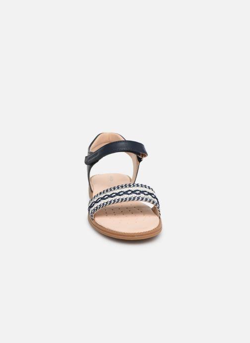 Sandales et nu-pieds Geox J Sandal Karly Girl J9235G Bleu vue portées chaussures