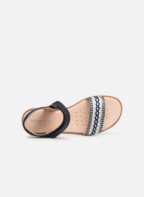 Sandales et nu-pieds Geox J Sandal Karly Girl J9235G Bleu vue gauche