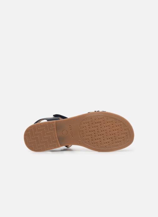 Sandales et nu-pieds Geox J Sandal Karly Girl J9235G Bleu vue haut