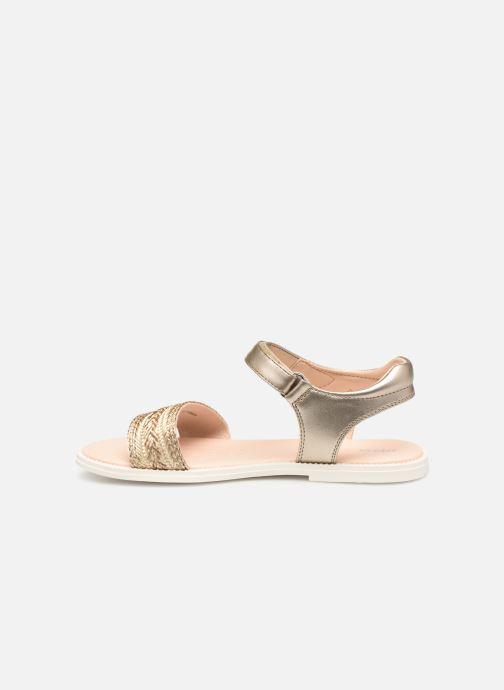 Sandales et nu-pieds Geox J Sandal Karly Girl J9235G Or et bronze vue face