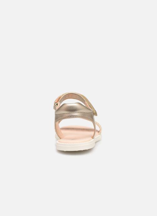 Sandales et nu-pieds Geox J Sandal Karly Girl J9235G Or et bronze vue droite