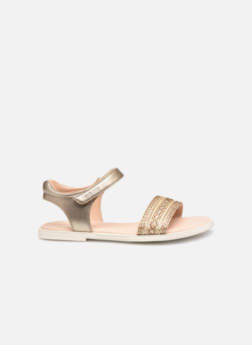 Sandales et nu-pieds Geox J Sandal Karly Girl J9235G Or et bronze vue derrière