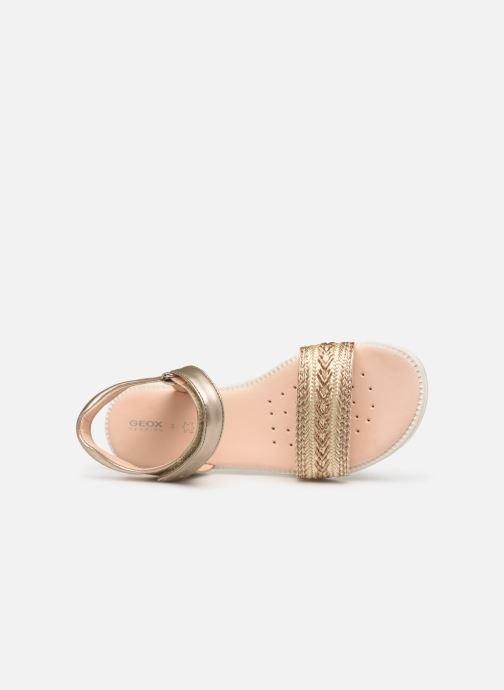 Sandales et nu-pieds Geox J Sandal Karly Girl J9235G Or et bronze vue gauche