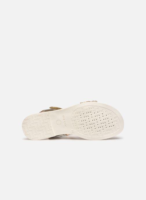 Sandales et nu-pieds Geox J Sandal Karly Girl J9235G Or et bronze vue haut