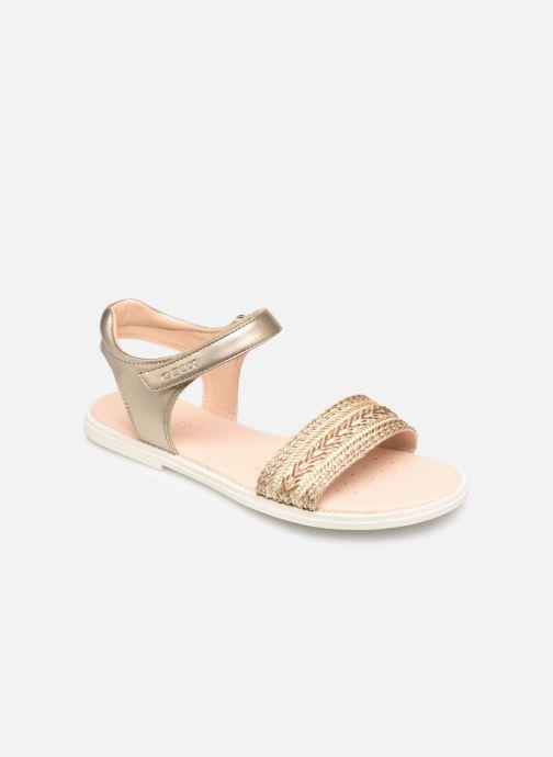 Sandales et nu-pieds Geox J Sandal Karly Girl J9235G Or et bronze vue détail/paire