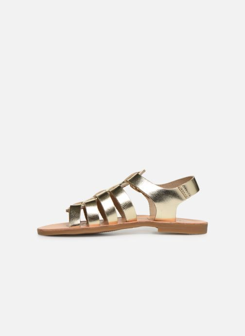Sandales et nu-pieds Geox J Sandal Violette Gi J929GB Or et bronze vue face