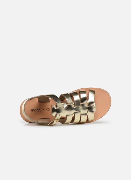 Sandales et nu-pieds Geox J Sandal Violette Gi J929GB Or et bronze vue gauche