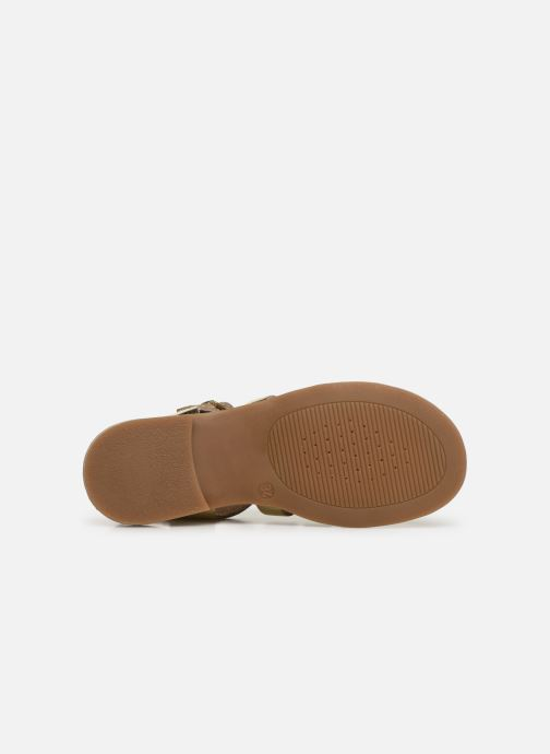Sandales et nu-pieds Geox J Sandal Violette Gi J929GB Or et bronze vue haut
