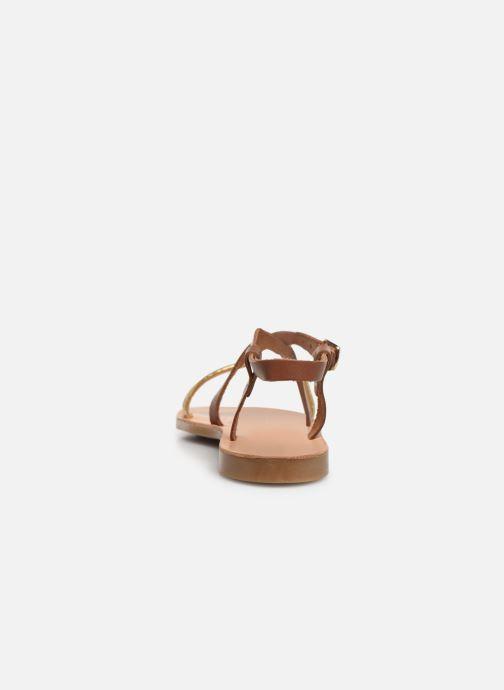 Sandales et nu-pieds Geox J Sandal Violette Gi J929GD Marron vue droite