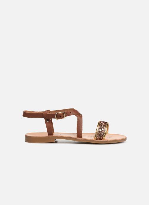 Sandales et nu-pieds Geox J Sandal Violette Gi J929GD Marron vue derrière