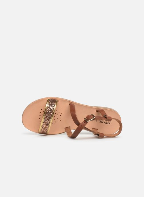 Sandales et nu-pieds Geox J Sandal Violette Gi J929GD Marron vue gauche