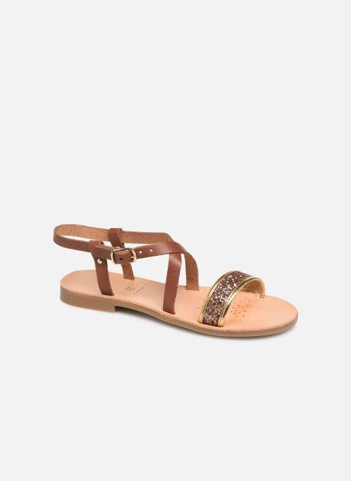 Sandales et nu-pieds Geox J Sandal Violette Gi J929GD Marron vue détail/paire