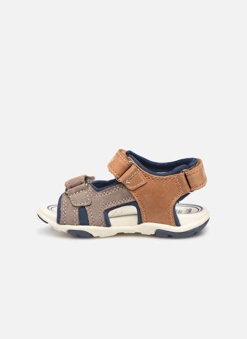Sandales et nu-pieds Geox B Sandal Agasim Boy B921AB Marron vue face