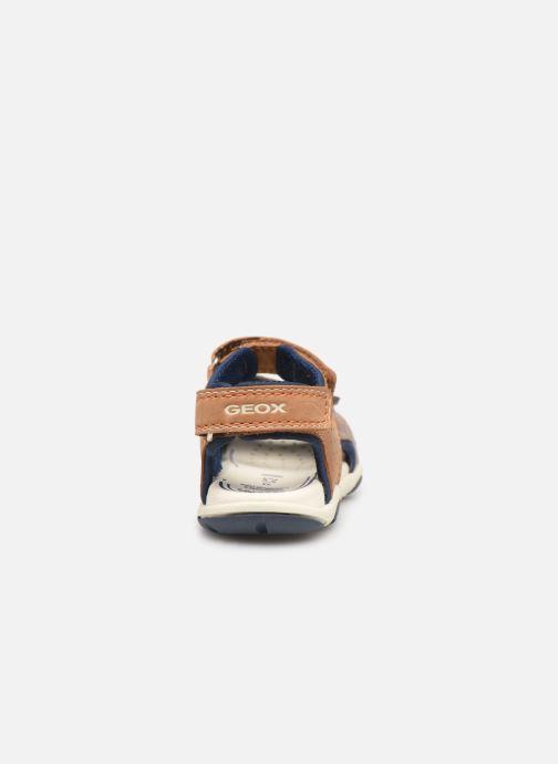 Sandales et nu-pieds Geox B Sandal Agasim Boy B921AB Marron vue droite