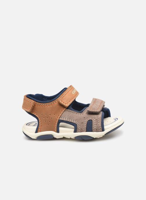 Sandales et nu-pieds Geox B Sandal Agasim Boy B921AB Marron vue derrière