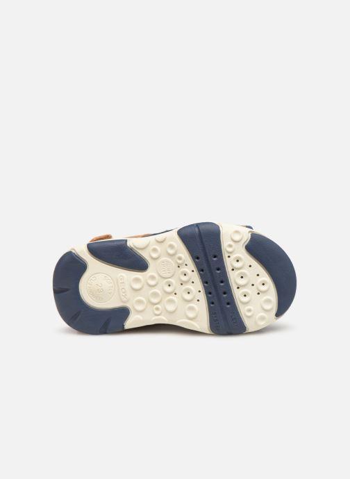 Sandales et nu-pieds Geox B Sandal Agasim Boy B921AB Marron vue haut