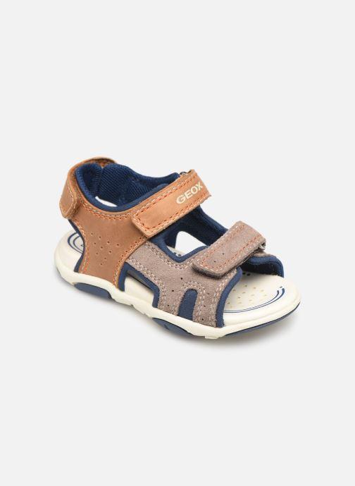 Sandales et nu-pieds Geox B Sandal Agasim Boy B921AB Marron vue détail/paire