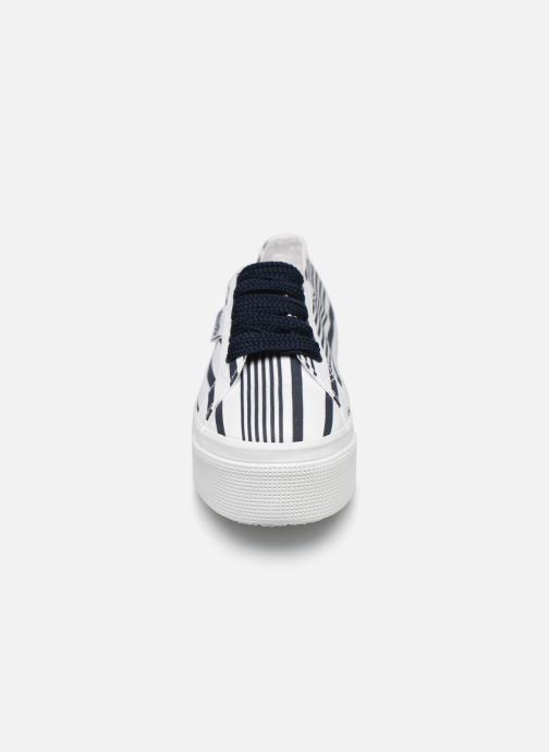 Sneakers Superga 2790 Cot Multistripe W Blauw model