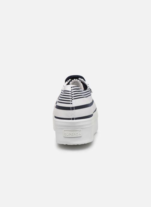 Sneakers Superga 2790 Cot Multistripe W Blauw rechts