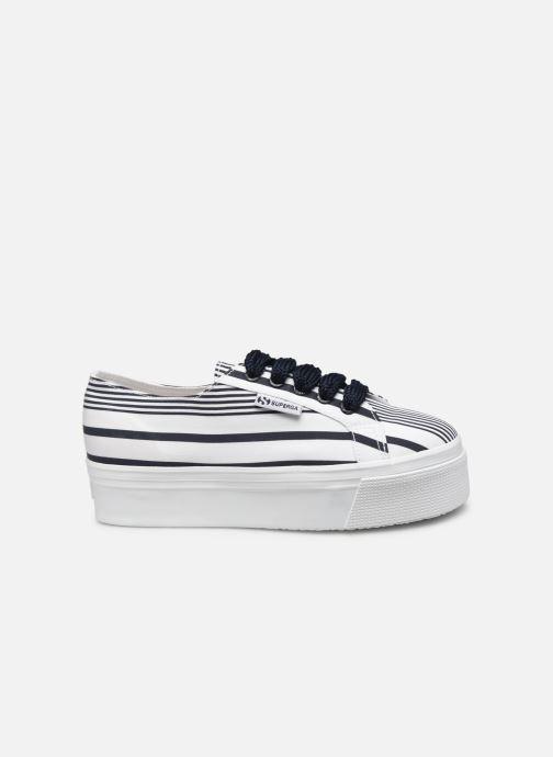 Sneakers Superga 2790 Cot Multistripe W Blauw achterkant