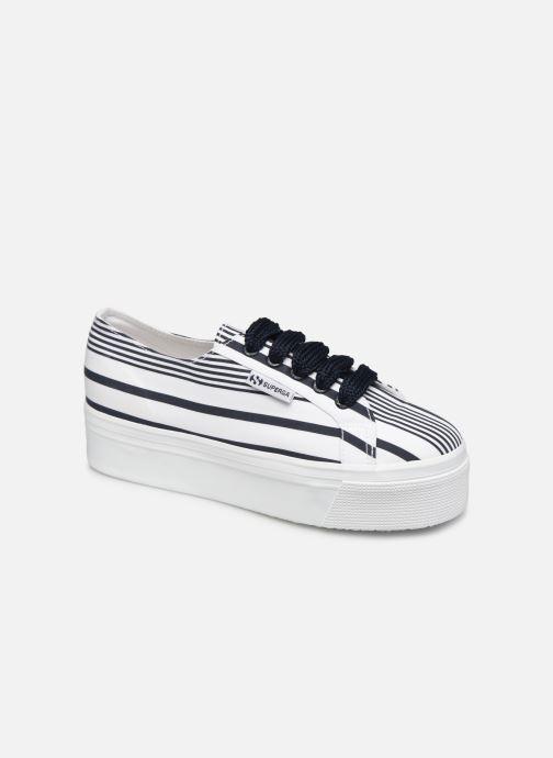 Sneakers Superga 2790 Cot Multistripe W Blauw detail