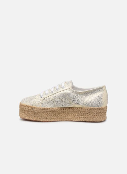 Baskets Superga 2790 Jersey Frost Lame W Or et bronze vue face