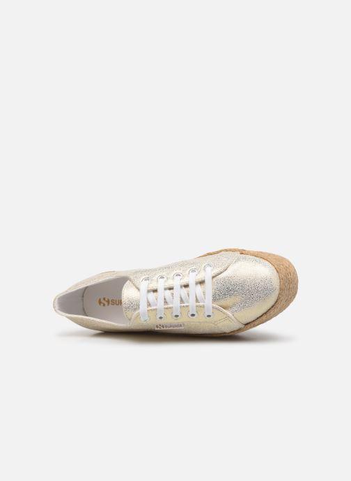 Sneakers Superga 2790 Jersey Frost Lame W Oro e bronzo immagine sinistra