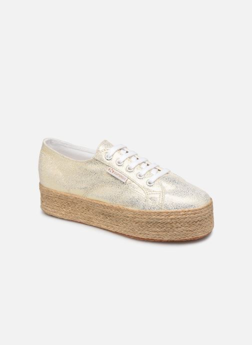 Baskets Superga 2790 Jersey Frost Lame W Or et bronze vue détail/paire