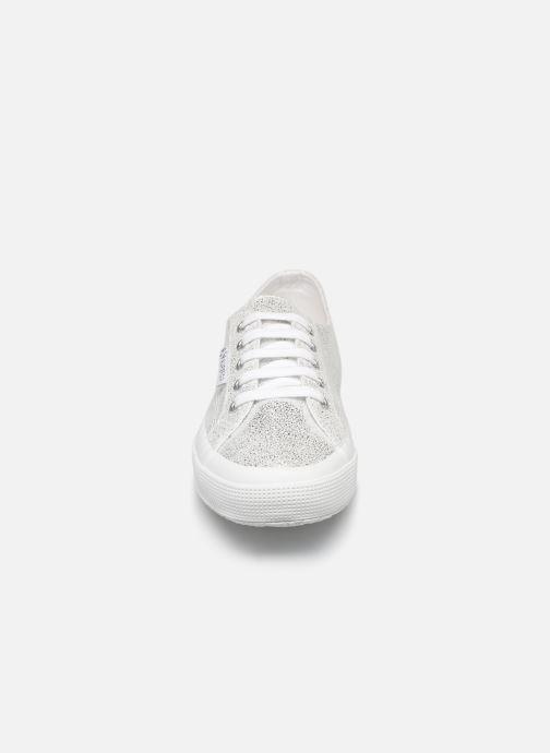 Baskets Superga 2790 Jersey Frost Lame W Argent vue portées chaussures