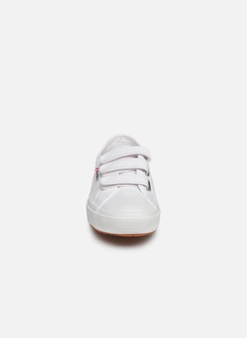 Sneaker Superga 2750 Cot 3 Strapu C weiß schuhe getragen